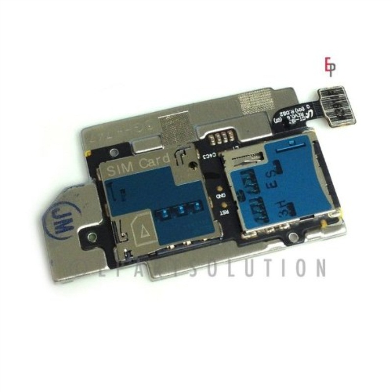 ePartSolution-Samsung Galaxy S3 SGH-i747 T999 Flex Cile Memory & Sim Card Tray Slot Holders Connector Replacement Part USA Seller