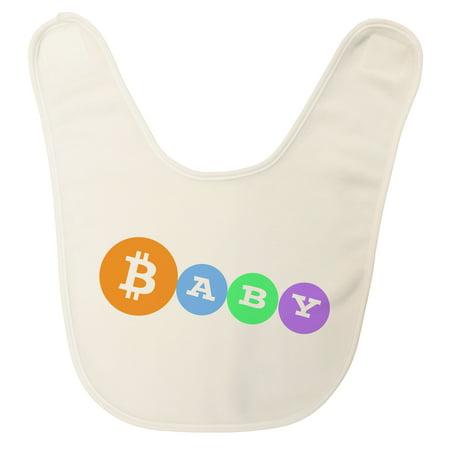 Usa Made   Bitcoin Baby   Ultra Soft Fleece Baby Bib With Fastening Tape Closure