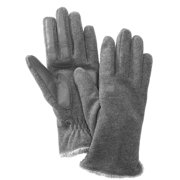 Isotoner Smart Touch  Womens Gray Fleece Smartouch Texting Gloves Oxford Heather