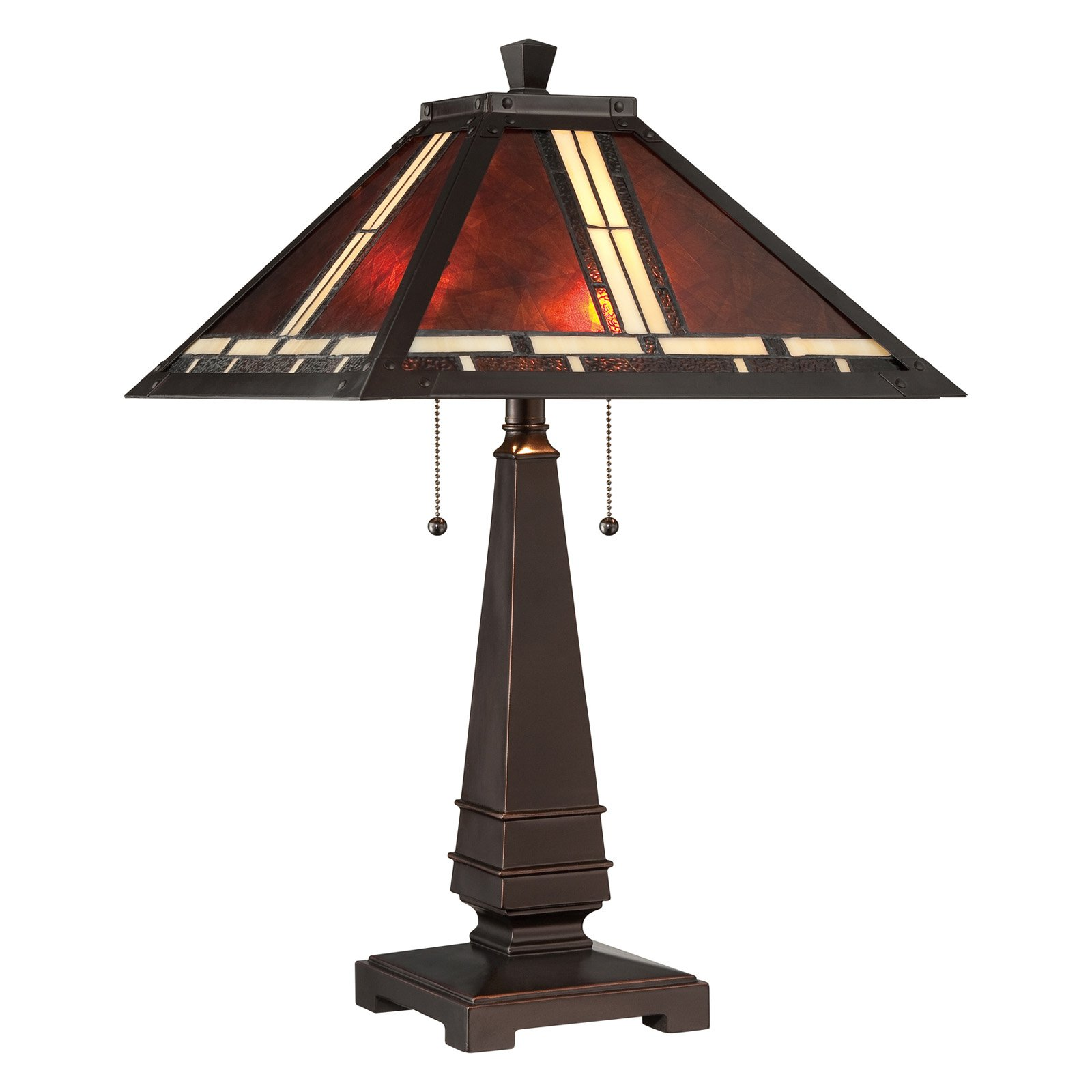 Lite Source Crimson Tiffany Table Lamp