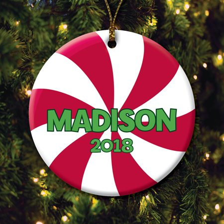 Personalized Christmas Ornament - Peppermint Candy](Peppermint Christmas Ornaments)
