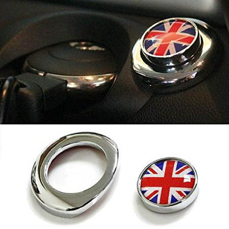 - iJDMTOY (1) Classic Red/Blue UK Union Jack Design Engine Start Push Start Cap Cover For 2nd Gen MINI Cooper
