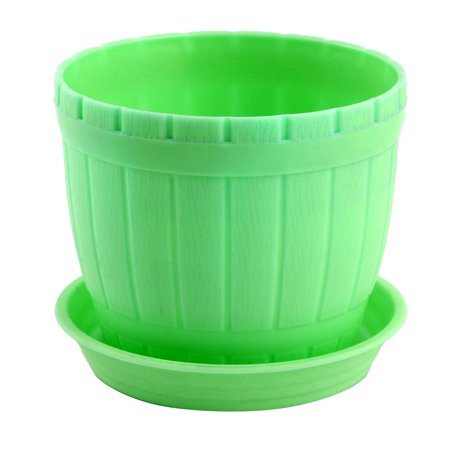 Office Plastic Desktop Adornment Plants Cactus Planting Pot Flowerpot Green for Christmas ()