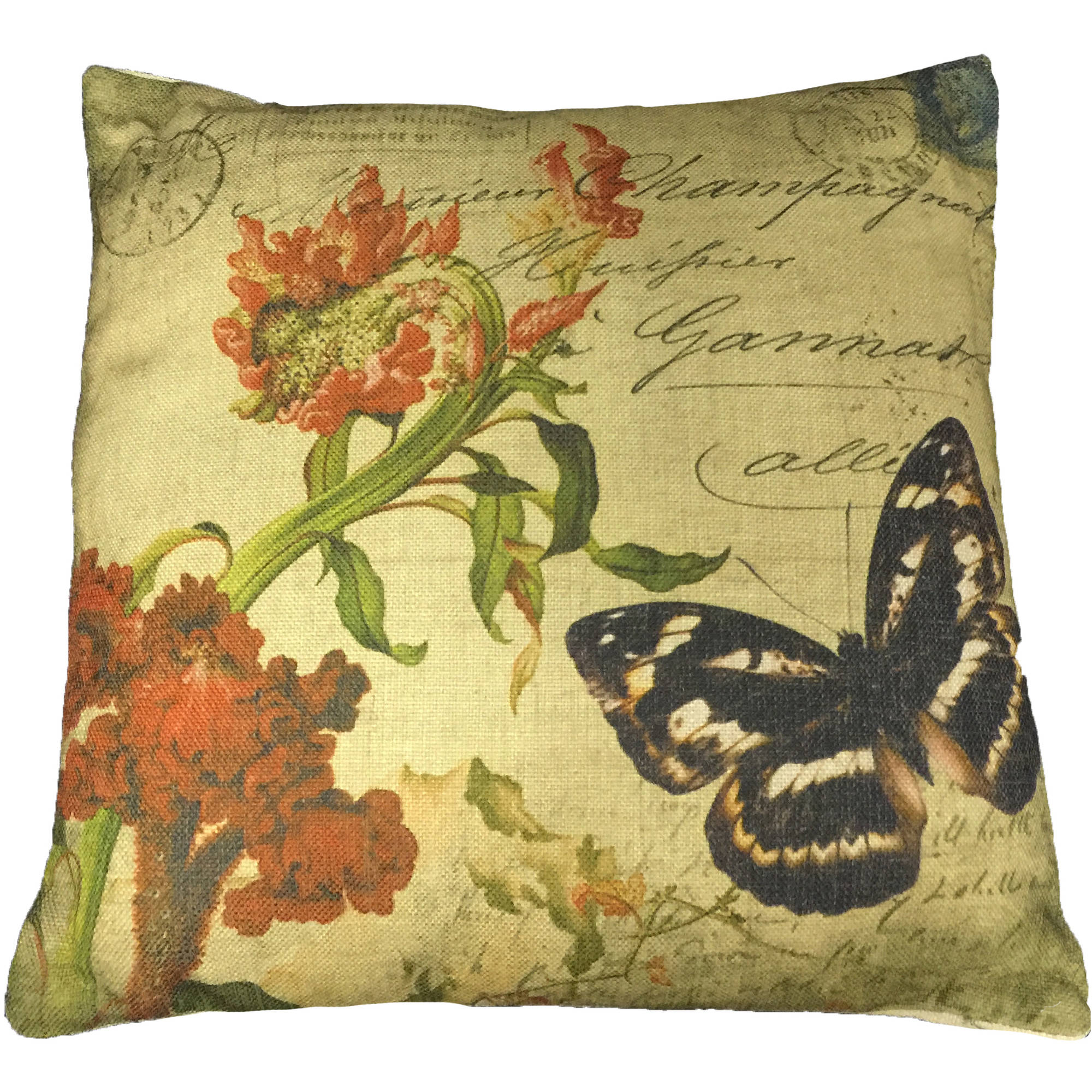 Creative Motion Cushion with Flower and Butterfly Design