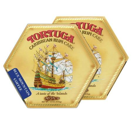 Tortuga Caribbean Blue Mountain Coffee Rum Cake, 16-Ounce Box - Pack of 2