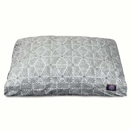 Majestic Pet Charlie Rectangle Dog Bed Cotton Twill Removable Cover Gray Small 27u0022 x 20u0022 x 4u0022
