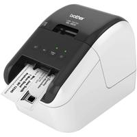Brother QL-800 High-Speed Professional Label Printer, Lightning Quick Printing, Plug & Label Feature, Brother Genuine DK Pre-Sized Labels, Multi-System Compatible – Black & Red Printing Available
