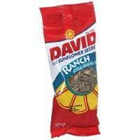Product Of David, Sunflower Seeds Ranch, Count 12 (1.625 oz) - Sunflower Seeds / Grab Varieties & Flavors