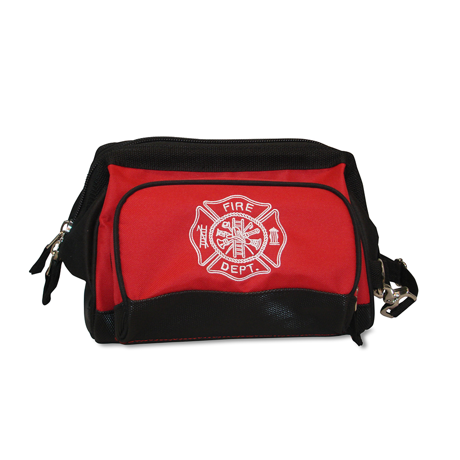 Lightning X Fireman's All-Purpose Wide Mouth Toiletry/Personal Tool Bag for Shift Firefighter w/ Maltese Cross
