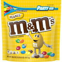 M&M'S Peanut Chocolate Candy, 38-Oz. Party Size Bag