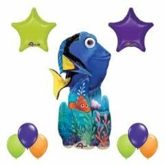 Finding Dory 55 inch Airwalker Balloon 9pc Party Decorations (Finding Nemo Party Decorations)
