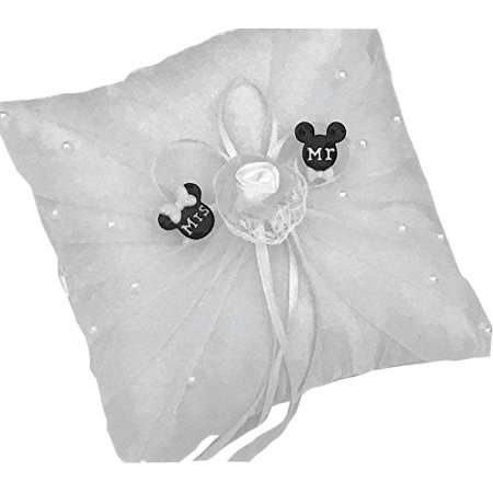 Mickey and Minnie Mouse Wedding Ring Pillow Party Keepsake Gift