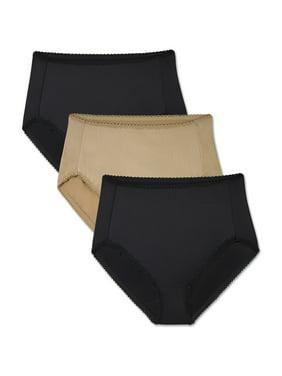 Radiant by Vanity Fair Women's 3 Pack Undershapers Light Control Hi-Cut Panty, Style 3448301
