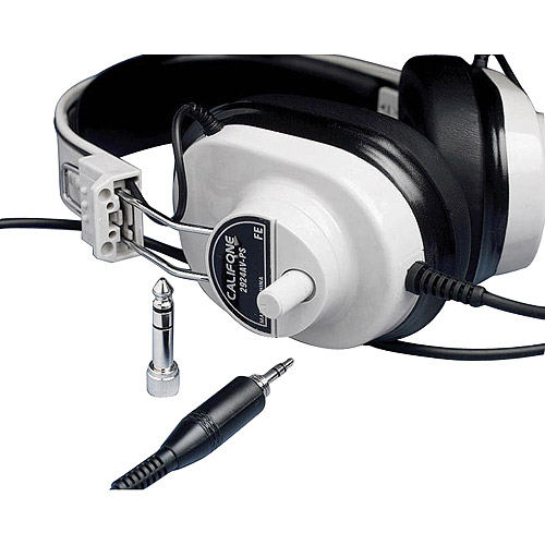 Califone Stereo Headphone, 20 mW, 6 ft Cord, Beige