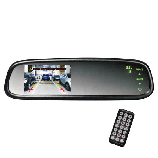 "Boyo OE-Style Replacement Mirror Monitor with Built-in 4.3"" LCD, VTM43TC"