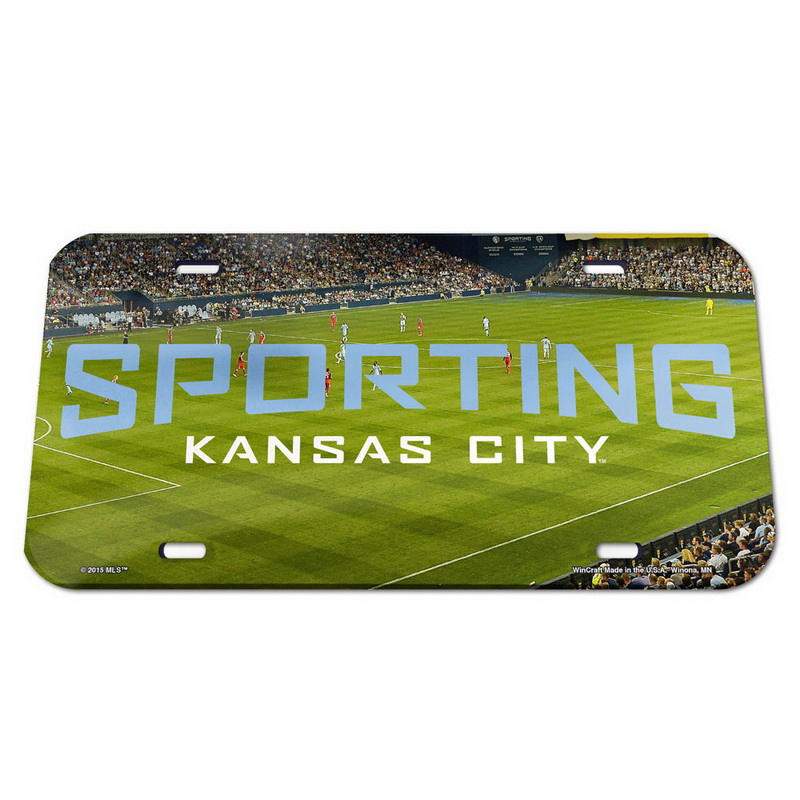 Wincraft Sporting Kansas City License Plate - Crystal Mirror - Stadium
