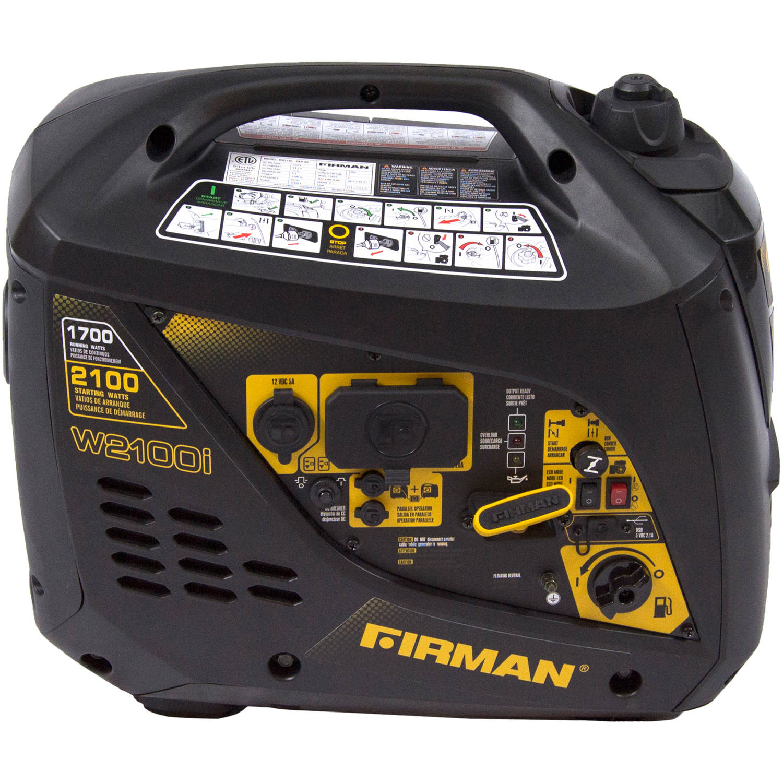 Firman Power Equipment W01781 Gas Powered 1700 2100 Watt (Whisper Series) Extended Run Time Portable Inverter by Sumec