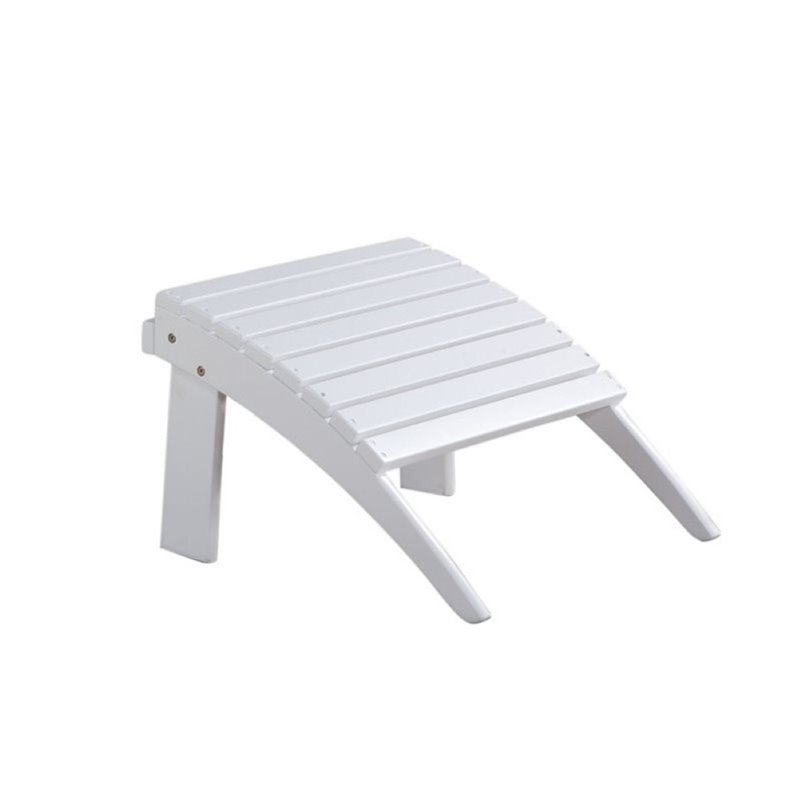 Hawthorne Collection Adirondack Ottoman in White