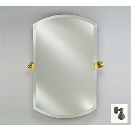 Afina Corporation RM-932-OB-T 20X32 DOUBLE ARCH FRAMELESS WITH TILT BRACKETS OIL RUBBED BRONZE TRADITIONAL BRACKETS