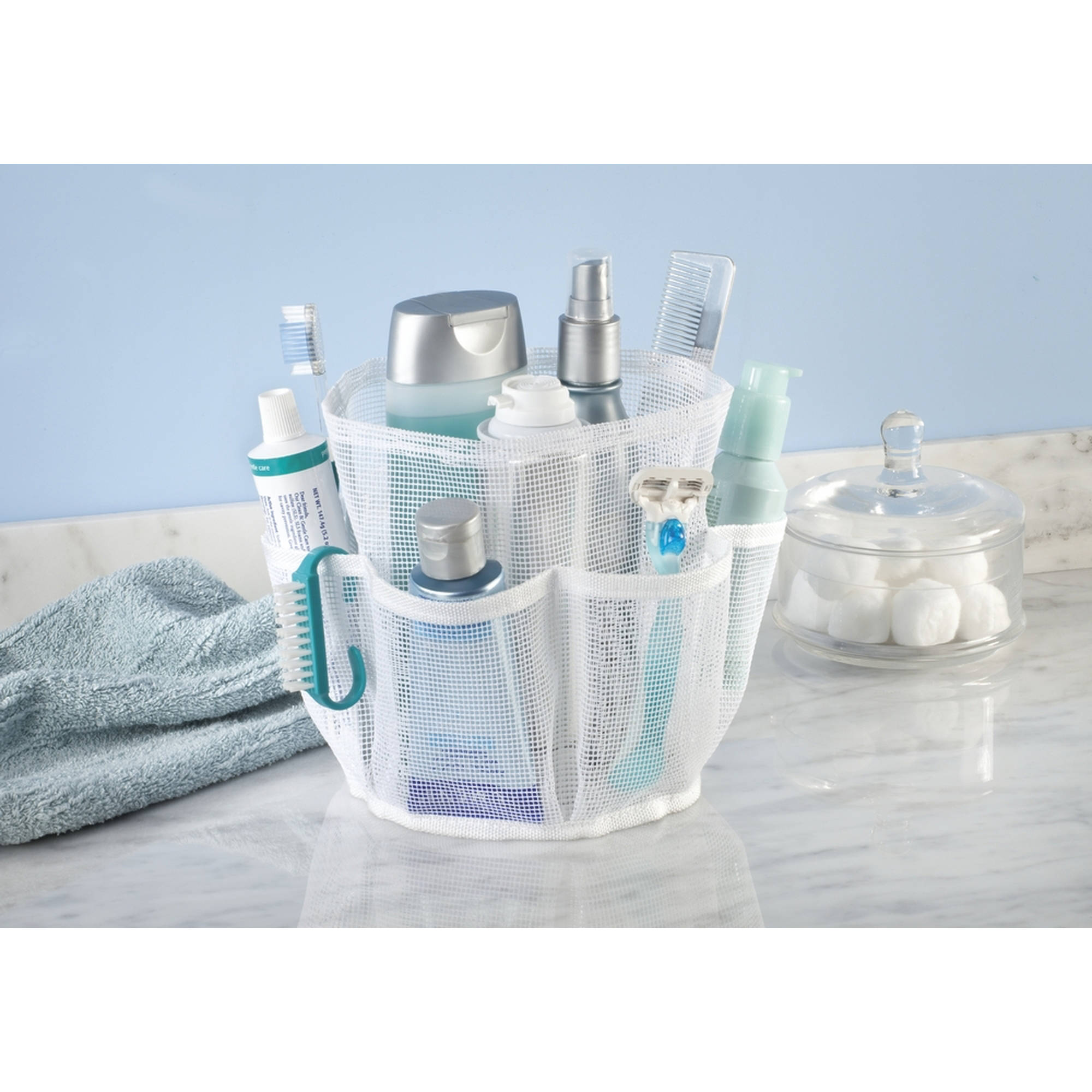 InterDesign Una Bathroom Shower Caddy, Mesh, White by INTERDESIGN