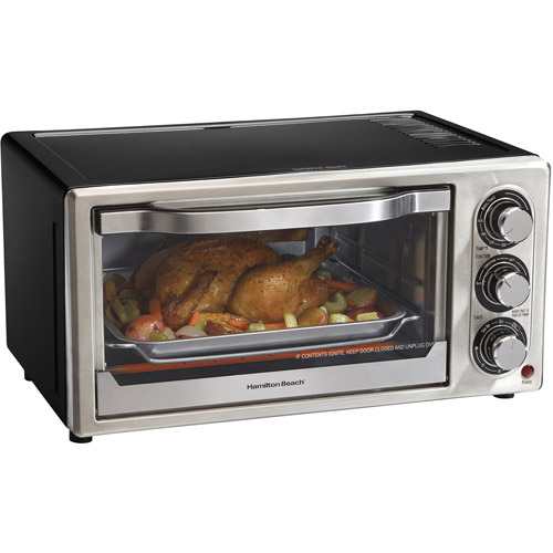Hamilton Beach 6 Slice Convection Toaster Oven with Bake Pan | Model# 31512