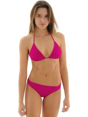 01e51a67a51ea Free shipping. Product Image Junior's Raspberry Pink Triangle Bathing Suit  2 Piece Bikini Set