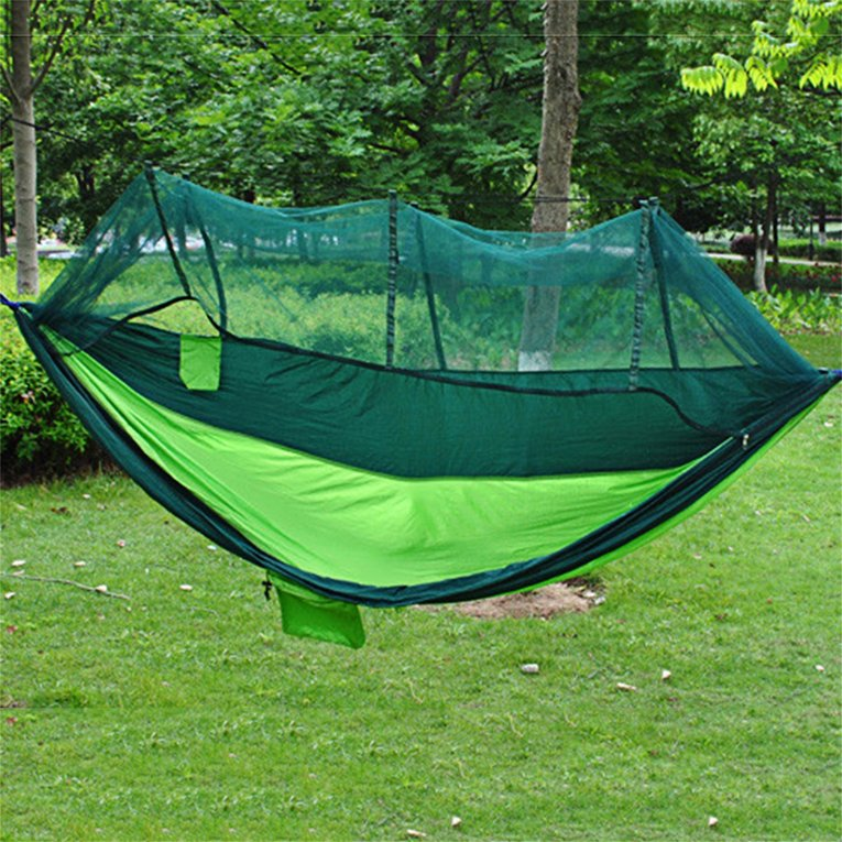 Army Green 2 Person Hanging Hammock Bed With Mosquito Net...
