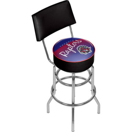 Toronto Raptors Hardwood Classics Bar Stool with Back by