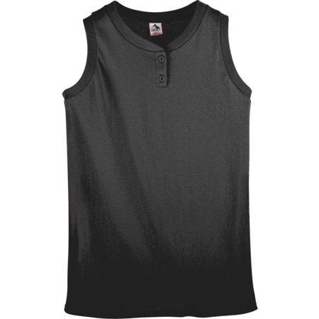 Sleeveless 2 Button Softball Jersey - 550 ladies sleeveless two button softball jersey royal l