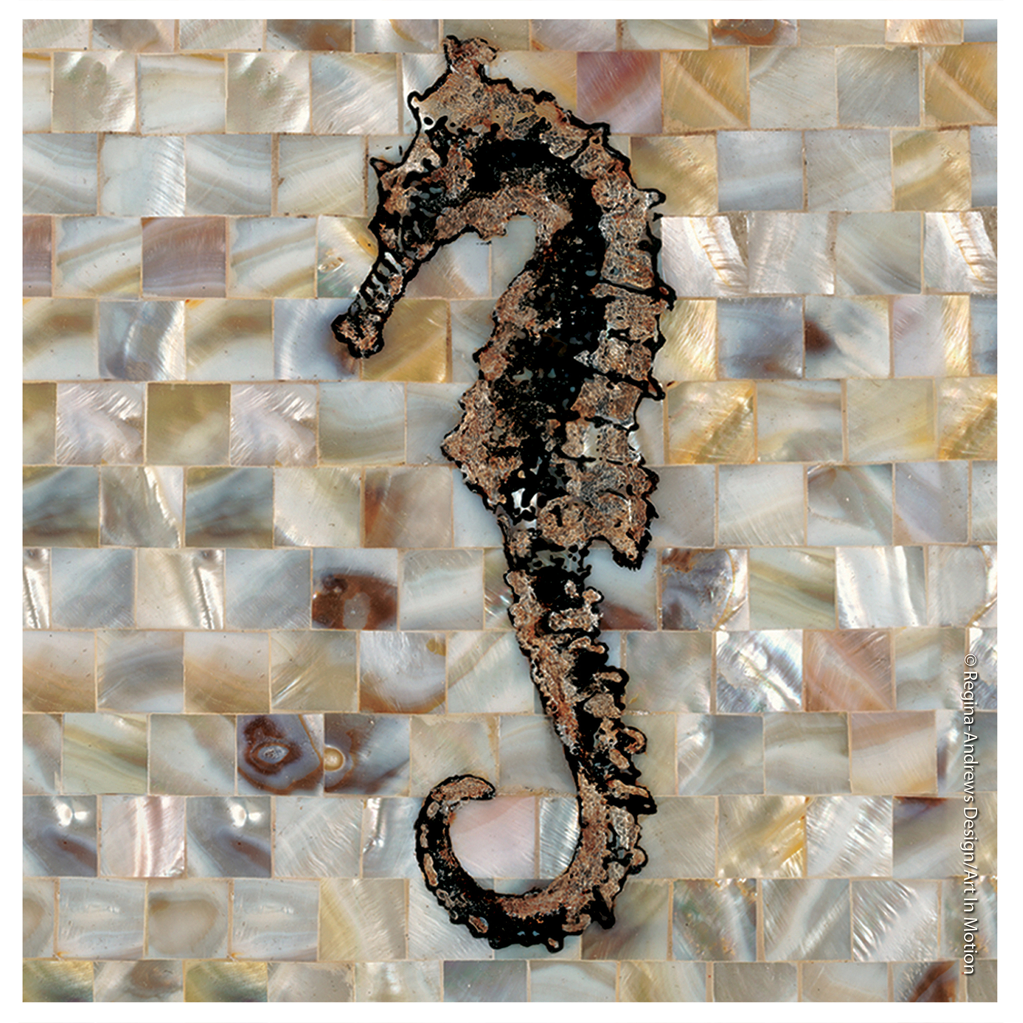 Thirstystone Occasions Drink Coasters, Set, Pearlized Seahorse