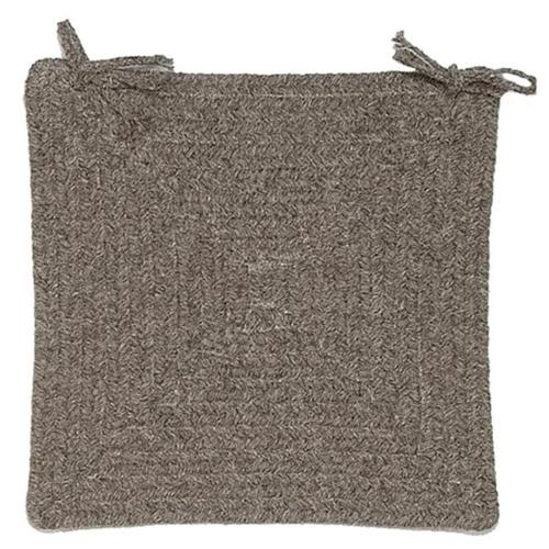 Colonial Mills Shear Natural - Rockport Gray Chair Pad (set 4)