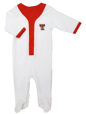 Product Image Texas Tech Red Raider Baby Long Sleeve Baseball Style  Playsuit. Future Tailgater 2342a2069cba