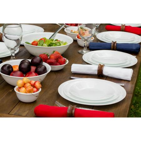 (Corelle Livingware Winter Frost White 16-Piece Dinnerware Set)