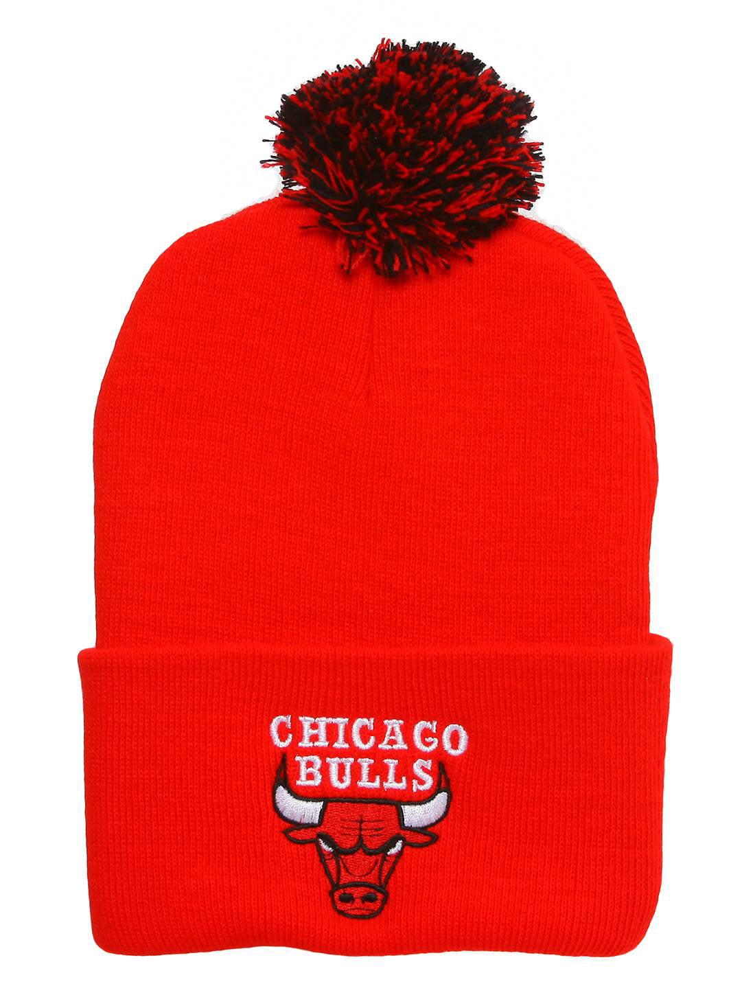 Chicago Bulls Red Cuffed Beanie w  Pom + Lanyard 6b5bc55fa38