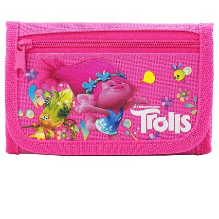 Trolls Dreamworks Pink Trifold Wallet