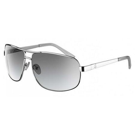 Ryders Eyewear X1 Chrome Frame Polarized Grey Gradient Lens Sunglasses
