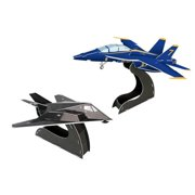 3D Puzzles CF629H Blue Angels F-A-18-F117 3D Puzzle 40 Pieces