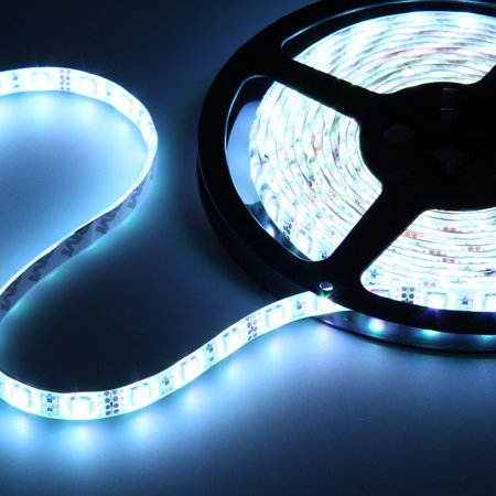 NEW Waterproof Super Bright 5M SMD 300 LED Flexible Strip light Rope Lamp DC 12V Bright Waterproof Led