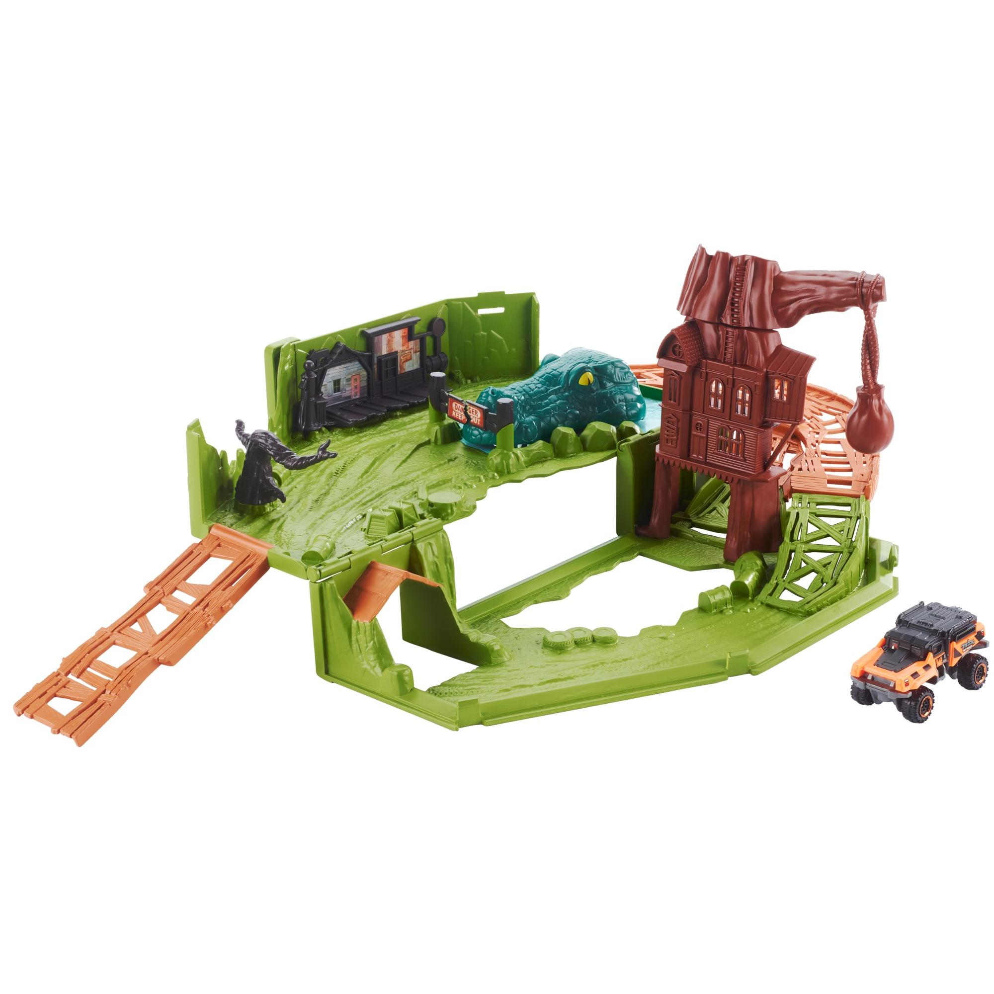 Matchbox Swamp Chomper Play Set with 1-Vehicle Included
