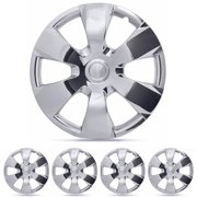 """BDK Toyota Camry Style Hubcaps Cover, Chrome 16"""" Replica Cover, 4 Pieces"""