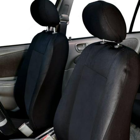 FH Group Premium Waterproof EVA Foam Seat Covers for Sedan, SUV, Van, Truck, Two Front Buckets, Black