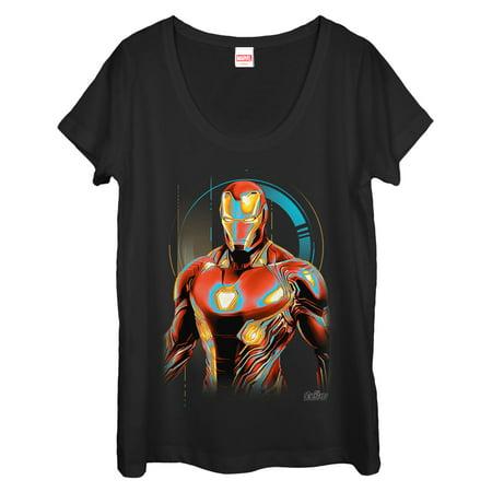 Marvel Women's Avengers: Infinity War Iron Man Future Scoop Neck T-Shirt - Womens Avengers Shirts
