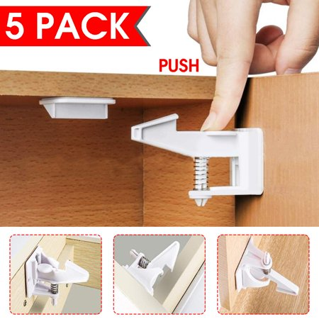 5pcs Baby Proofing Child Safety Kitchen, How To Lock Kitchen Cabinet Doors