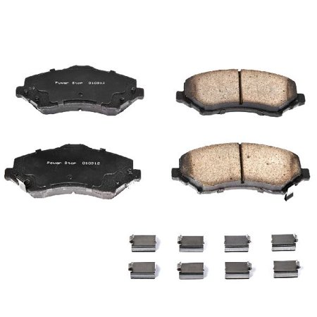 OE Replacement for 2008-2012 Jeep Liberty Front Disc Brake Pad and Hardware Kit (Jet / Limited / Limited Edition / Limited Jet / North Edition / Renegade / Sky Slider)