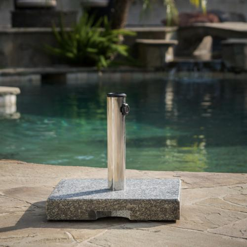 Grey Granite Square Umbrella Holder