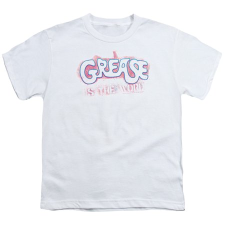 Grease - Grease Is The Word - Youth Short Sleeve Shirt - Medium - Greaser Boys