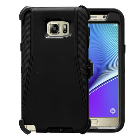 Galaxy Note 5 Case, [Full body] [Heavy Duty Protection] Shock Reduction / Bumper Case with Clear Plastic Screen for Samsung Galaxy Note 5
