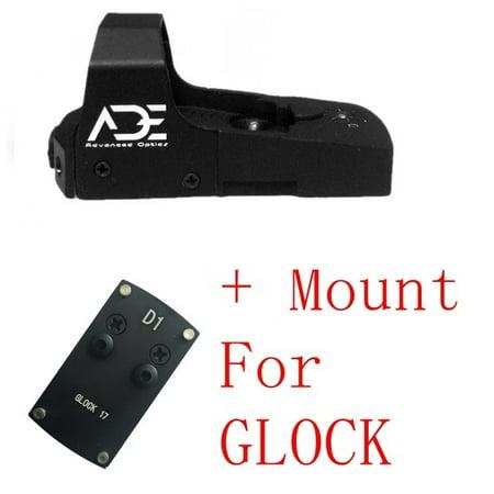 Ade Advanced Optics RD3-006B GREEN Dot Reflex Sight for GLOCK 17 19 20 22 26 ect