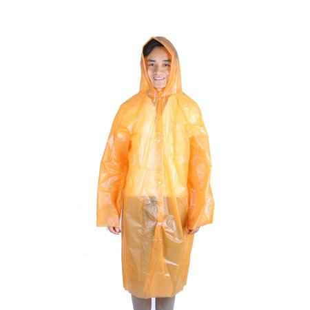Orange Travel Jacket - Plastic Cover Water Resistant Dustproof Travel Hiking Disposable Raincoat Orange