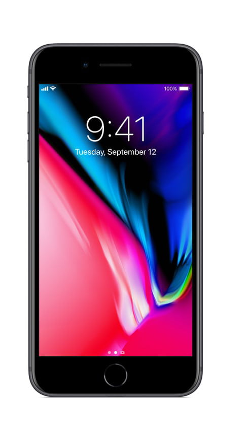 Straight Talk Apple iPhone 8 Plus with 64GB Prepaid Smartphone, Space Gray by Apple